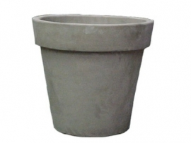 Handgemaakte Terracotta pot `Vaso Gris` Ø100xH92