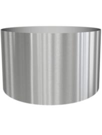 RVS plantenbak, cilindervorm 'Andor' op ring Ø120 x H77cm
