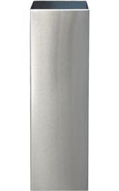 RVS plantenbak,  pilaar 'Andor' op ring L38 x B38 x H122 cm