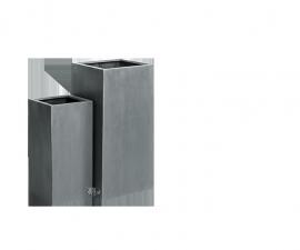 Vierkante plantenbak `Michigan`. H80 x B40 x D40 | H60 x B30 x D30 cm Kleur: Grey Stonelook