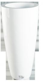 Ronde plantenbak `Kentucky`. Afmeting:  Ø47 x H100 cm. Kleur: Shiny White
