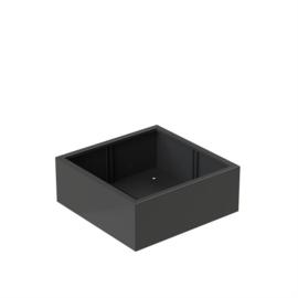 Aluminium plantenbak 'Rubik' 1000x1000x400mm