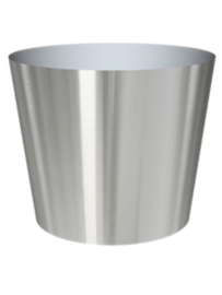 RVS plantenbak, conische vorm 'Panache' op ring Ø39 x H40cm