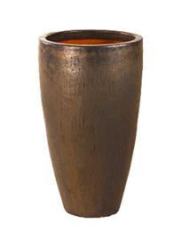 Keramiek plantenbak  'Verla' goudkleurig Ø56 x H110 cm