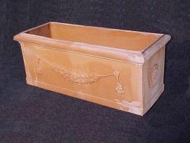 Handgemaakte Terracotta terrasbak `Cassetta Liscia` L100xH40xB40