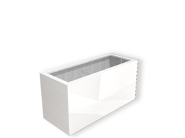 Hoogglans polyester plantenbak `Separazione` 1500x500x600 mm