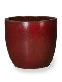 Keramiek plantenbak 'Umi'   glazuurlaag rood Ø53x H49 cm