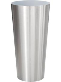 RVS plantenbak, conische vorm 'Panache' op ring Ø39 x H80cm