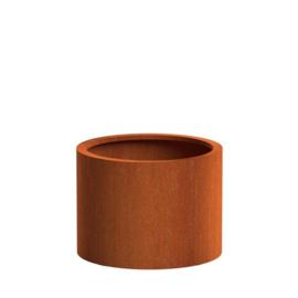 CorTenstaal plantenbak `Arrondi` Ø80 x H60 cm
