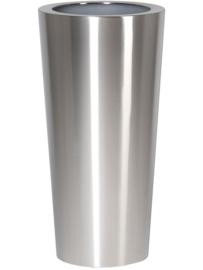 RVS plantenbak, conische vorm 'Panache Plus' op ring Ø39 x H80cm