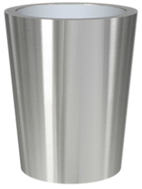 RVS plantenbak, conische vorm 'Panache Plus' op ring Ø48 x H59cm