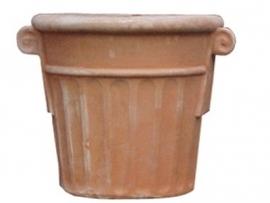 Handgemaakte Terracotta pot `Vaso Cortona` Ø58xH52