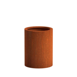 CorTenstaal plantenbak `Arrondi` Ø60 x H80 cm