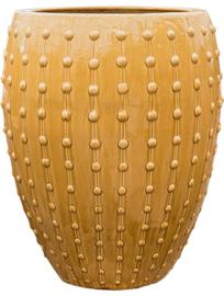 Keramiek plantenbak  'Lucia' glanzend geel D64 x H80 cm