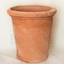 Handgemaakte Terracotta pot `Vaso Alto Lucca` Ø60xH63