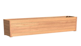 Hardhouten plantenbak 'Santa Cruz' 3000 x 400 x 720mm