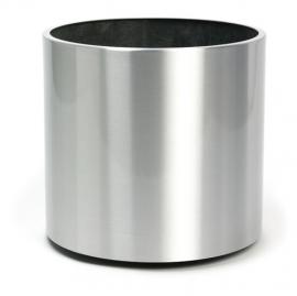 Aluminium plantenbak geborsteld  'Pearl'  Ø50 x H41 cm