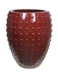 Keramiek plantenbak  'Lucia' Classic red D64 x H80 cm