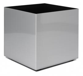 Aluminium plantenbak geborsteld  'Cube'  L50B50XH50 cm