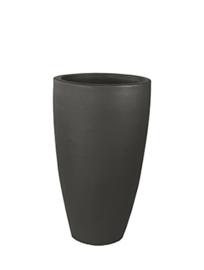 Keramiek plantenbak 'Ella' zandstructuur  Ø41 x H69 cm