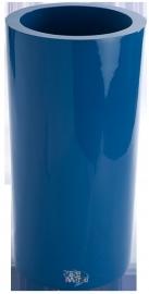 Ronde plantenbak `Cuba`. Afmeting: Ø40 x H80 cm . Kleur: Shiny Blue