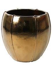 Keramiek schaal 'Umi'  glanzend goud Ø55 x H55 cm