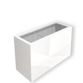 Hoogglans polyester plantenbak `Separazione` 900x250x800 mm