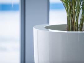 Hoogglans polyester plantenbak `Robusto` Ø720 x 1120mm