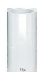 Ronde plantenbak `Cuba`. Afmeting: Ø40 x H80 cm . Kleur: Shiny White