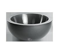 Schaal `Jamaica` Kleur: Shiny Grey. Afmetingen Ø70 x H32 cm