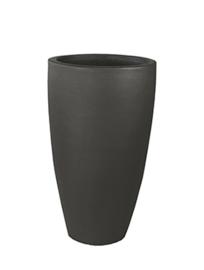 Keramiek plantenbak 'Ella' zandstructuur  Ø52 x H90 cm