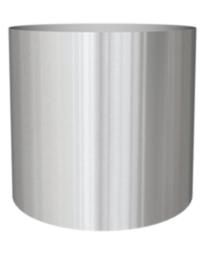 RVS plantenbak, cilindervorm 'Andor' op wielen Ø80 x H77cm