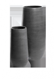 Ronde plantenbak `Idaho` (set, 2 stuks). Afmeting: Ø50 x H101 en Ø35 x H70 cm. Kleur: Stone Grey