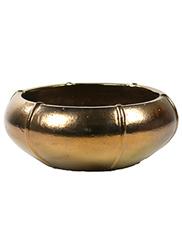Keramiek schaal 'Umi'  glanzend goud Ø76 x H29 cm