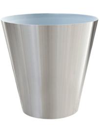 RVS plantenbak, conische vorm 'Panache' op ring Ø70 x H75cm