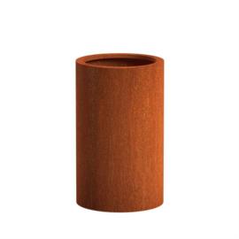 CorTenstaal plantenbak `Arrondi` Ø60 x H100 cm