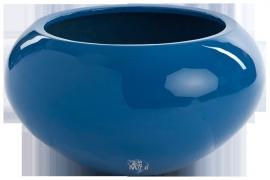 Ronde plantenbak `San Francisco`. Afmeting:  Ø47 x H25,5 cm. Kleur: Shiny Blue