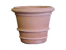 Handgemaakte Terracotta pot `Vaso Impruneto Lucca` Ø60xH48