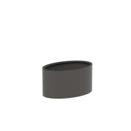 Aluminium plantenbak 'Oval' 1200x800x600mm