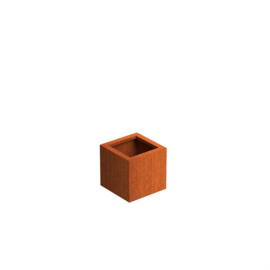 Cortenstaal plantenbak 'Basic' 370x370x400 mm