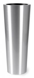 Aluminium plantenbak geborsteld  'Conan Plus'  Ø40XH78 cm