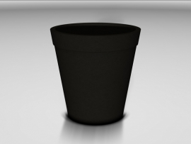 Ronde UHPC plantenbak, afmetingen Ø60 x H66,5 cm