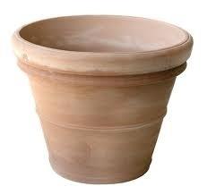 Handgemaakte Terracotta pot `Vaso Doppio Pisa` Ø100xH80