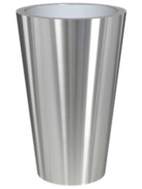 RVS plantenbak, conische vorm 'Panache Plus' op ring Ø60 x H95cm