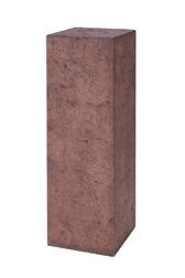 Polystone sokkel Red/Brown, afmetingen L30 x B30 x H80 cm