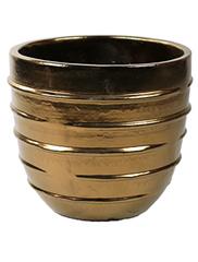 Keramiek schaal 'Umi'  glanzend goud Ø56 x H50 cm