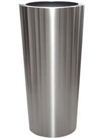 RVS plantenbak, conische vorm 'Panache Plus' op ring Ø48 x H99cm