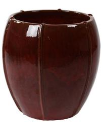 Keramiek plantenbak 'Umi'  glazuurlaag rood  Ø55 x H55 cm