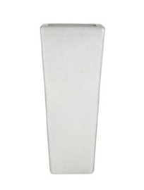 Keramiek plantenbak  'Perla' wit L36 x B36 x H90 cm