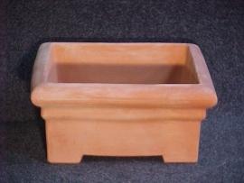 Handgemaakte Terracotta bak `Tinnozzo Basso ` Ø65xH32xB65